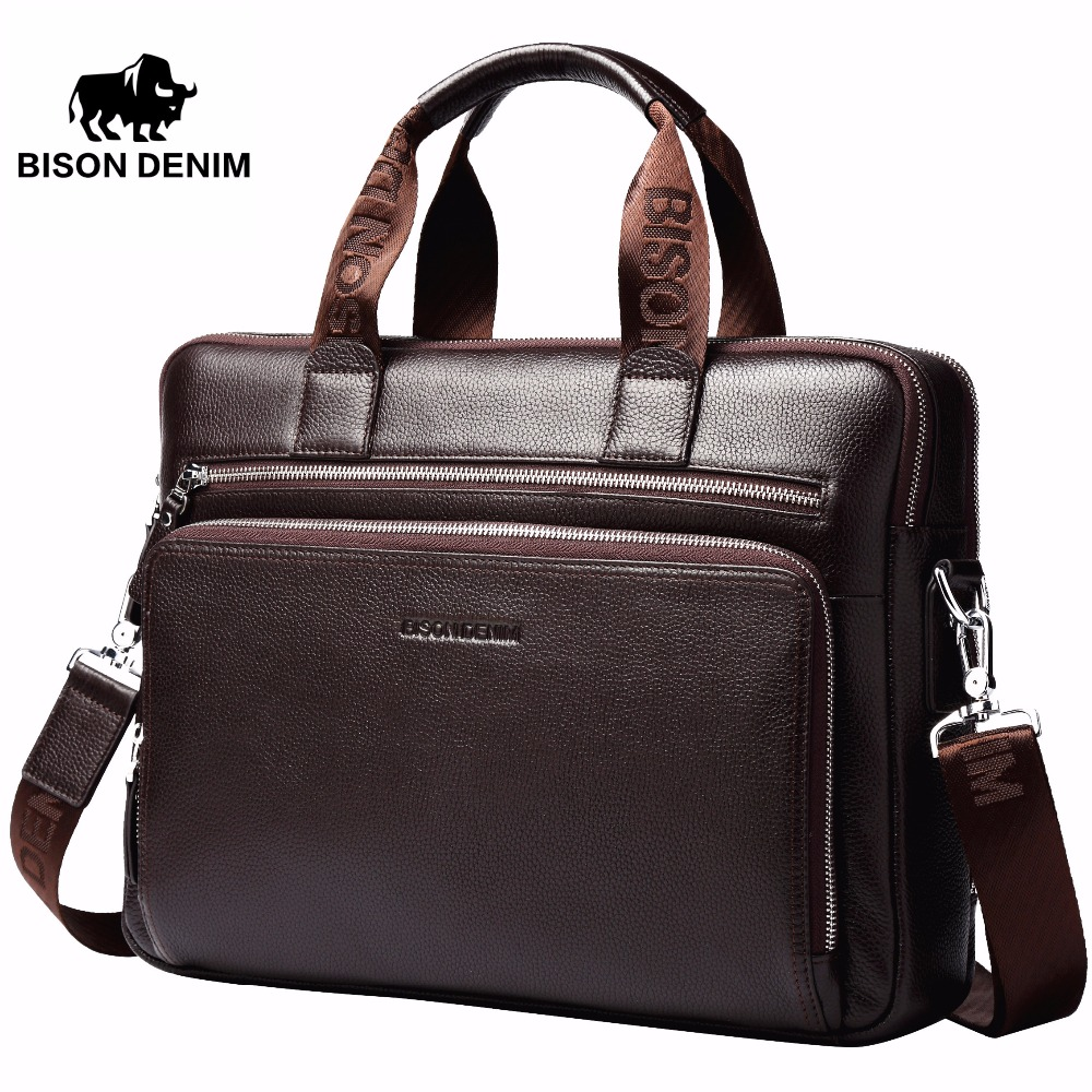 Bison Denim Genuine Leather 14 '' Torbica za prijenosno računalo - Aktovke - Foto 6
