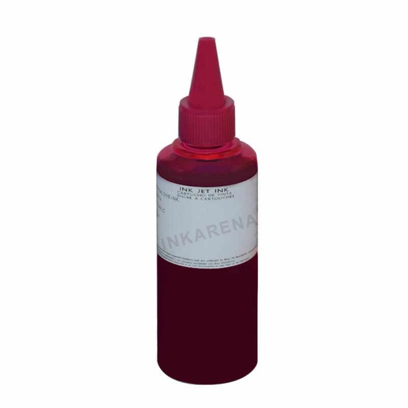 Inkarena 4 Warna Dye Tinta Isi Ulang Pengganti HP Kit 100 Ml Botol Tinta untuk Epson PREMIUM UNTUK Canon Inkjet printer Brother