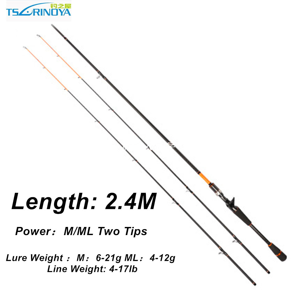 Trulinoya 2.4m BatiCasting Rod 4-17lb Line Weight High Carbon 2 Section Canne Casting Fishing Rod Casting Rod Baitcasting Rod zamagni мокасины