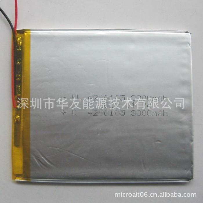 Tootjad tarnivad 4290105 3000mah liitiumpolümeer aku - Tahvelarvutite tarvikud - Foto 1