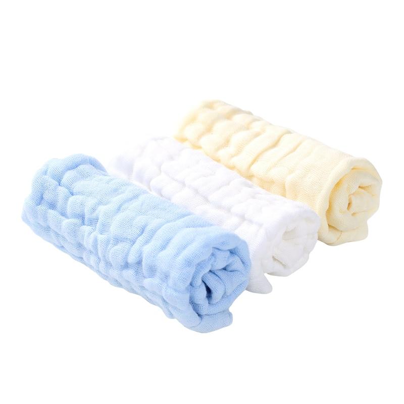 "3 Pack 10/""x10/"" Muslin Washcloths Soft Baby Face Towel 100/% Organic Cotton Shower"
