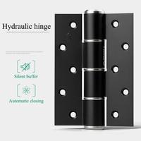 Bisagra de puerta oculta de aluminio de 5 pulgadas cierre automático bisagra de resorte de amortiguación hidráulica Invisible 1 par