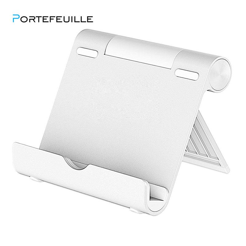 Portefeuille Stand for Tablet Smartphone Multi-Angle Portable Aluminum Holder For iPad 2018 Pro 12.9 Xiaomi mi pad 4 plus Porta (1)