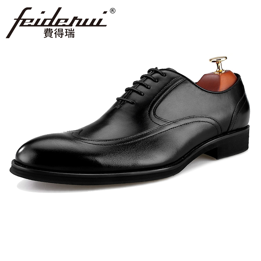 British Style Genuine Leather Men's Wedding Oxfords Round Toe Wingtip Man Party Flats Formal Dress Designer Male Shoes BQL11 new arrival british man wedding dress shoes fashion genuine leather male oxfords round toe formal luxury brand men s flats rf40