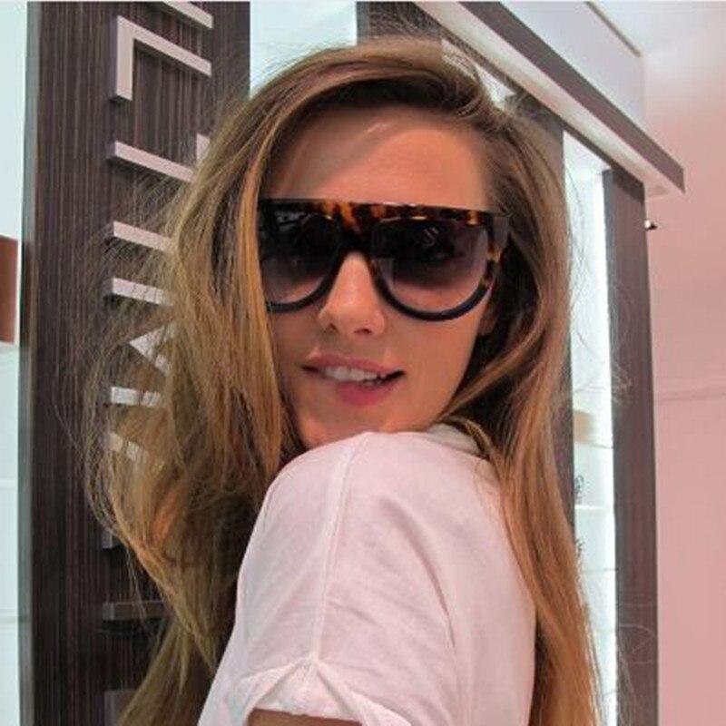 Мода 2016 года Солнцезащитные очки для женщин Для женщин Flat Top Стиль бренд Дизайн Винтаж Защита от солнца очки женский заклепки Оттенки Большой Рамки оттенков UV400