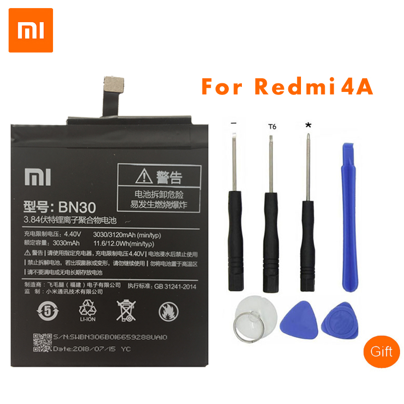 Xiaomi Replacement-Batteries BN30 3120mah Redmi 4a Original For High-Quality 3120mah/Redrice/4a/..