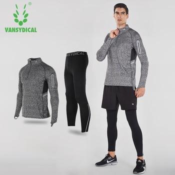 e942d539 2019 Vansydical мужской спортивный костюм костюмы для бега 2 шт Мужская спортивная  одежда спортивные костюмы для тренировок баскетбольные Джерси ..
