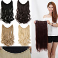 20 inch in hair extension hairpiece curly synthetic weave extensions mega hair piece 12Colors available