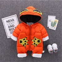 0 2T baby winter snowsuits Baby Coats Newborn Snowsuits For Boys Girls Romper Newborn Outwear Jumpsuit Winter Coat For Baby boy