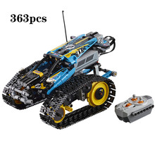2019 Remote-Controlled Stunt Racer The RC Tank Tracked Racer Building Blocks Compatible legoerg Technic 42095 Toy Kids Gift technic series 42065 radio controlled tracked racer set race car tank legoinglys building block brick toy technic lepin 20033