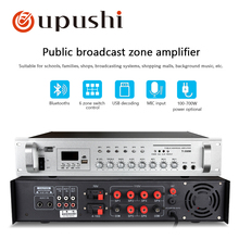 Oupushi pa system bluetooth amplifier 2 channel home stereo amp 6 zone power amplifiers with usb