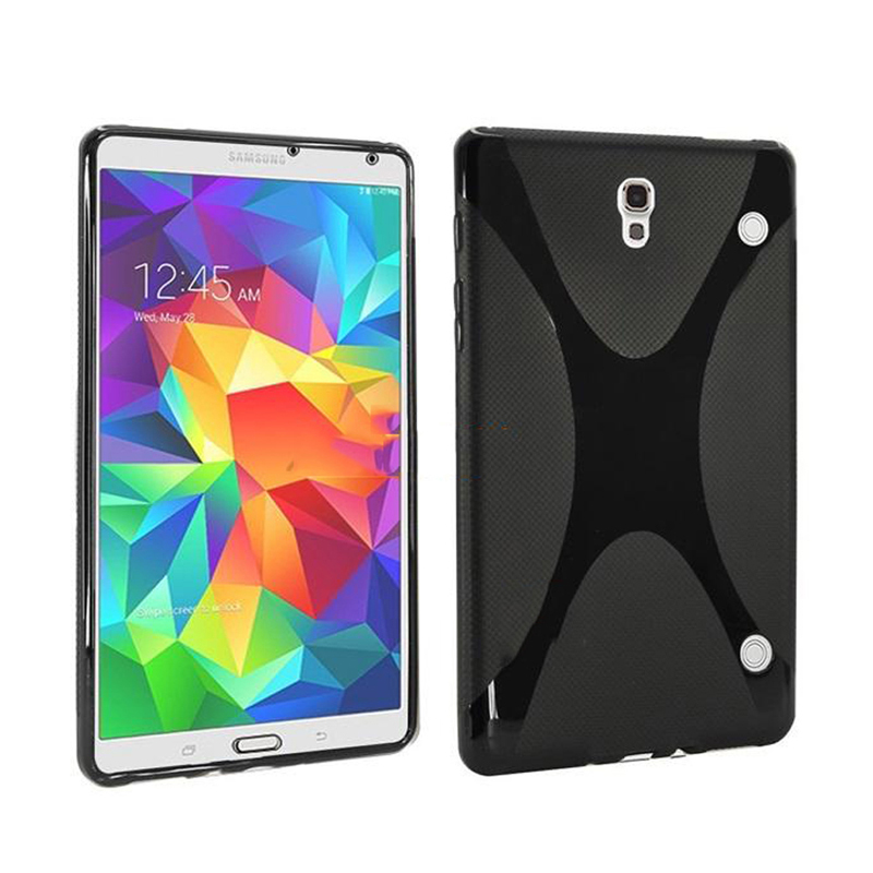 High Quality for Samsung Galaxy Tab S 8.4 T700 T705C Case Soft X Line TPU case silicone cover for Galaxy Tab S T700 Cover new x line soft clear tpu case gel back cover for samsung galaxy tab s2 s 2 ii sii 8 0 tablet case t715 t710 t715c silicon case
