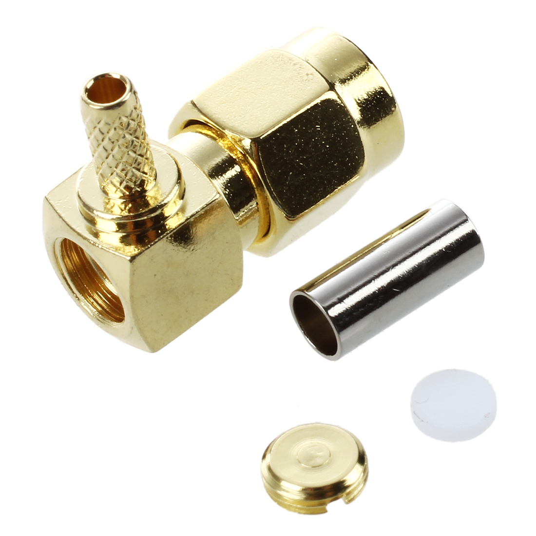 5x SMA Male Plug Right Angle RG174 RG316 LMR100 RF Coax Connector