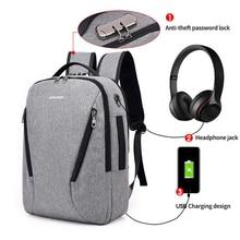 Usb зарядка Противоугонный рюкзак для мужчин с блокировкой паролем ноутбук рюкзак мужская сумка назад бизнес-рюкзак женский рюкзак большой