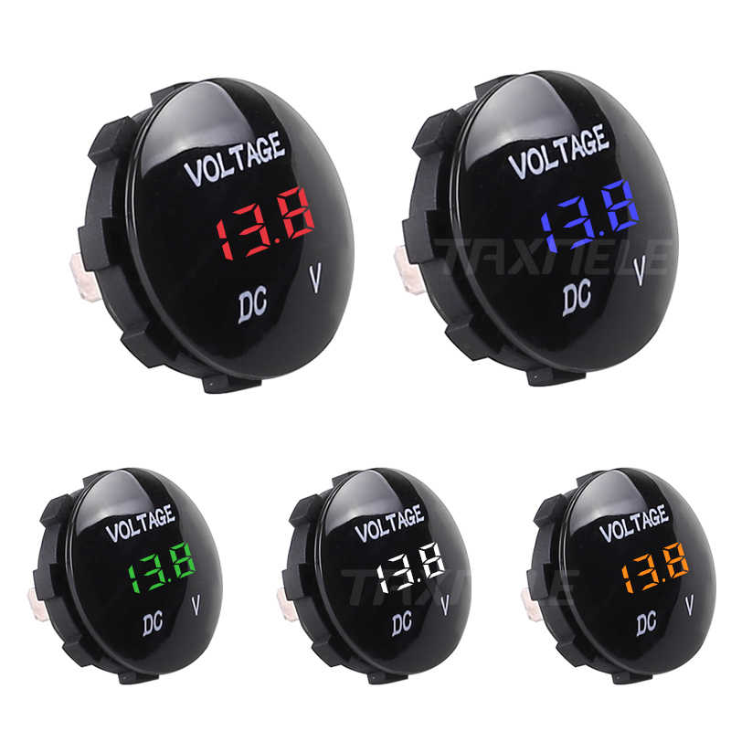 DC 5V-48V Waterproof Car Motorcycle Voltage Meter LED Panel Digital Volt  Display Voltmeter 12V 24V 36V Auto Motorcycle Tester