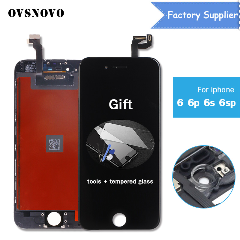 Black AAA Quality Display For iPhone 5s 4s 5 6 6s plus 7 8 LCD Touch Screen Digitizer Assembly Replacement phone Parts+2 gift