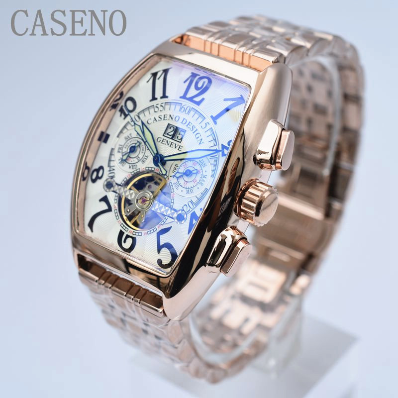 Tourbillon Skeleton Automatic Mechanical Watches Mens Wrist Watch Military Stainless Steel Male Clocks