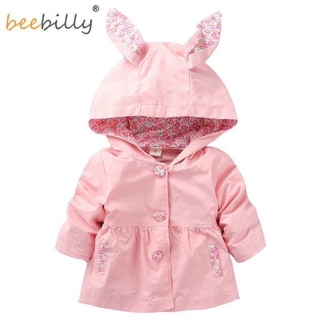 1a6670c01 1 4T Cute Rabbit Ear Hooded Girls Coat New Spring Top Autumn Kids ...