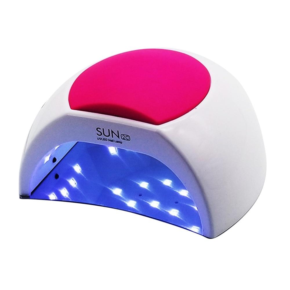 sun2c48w lampada do prego uv sun2 secador de unhas para uvled gel secador de unhas sensor