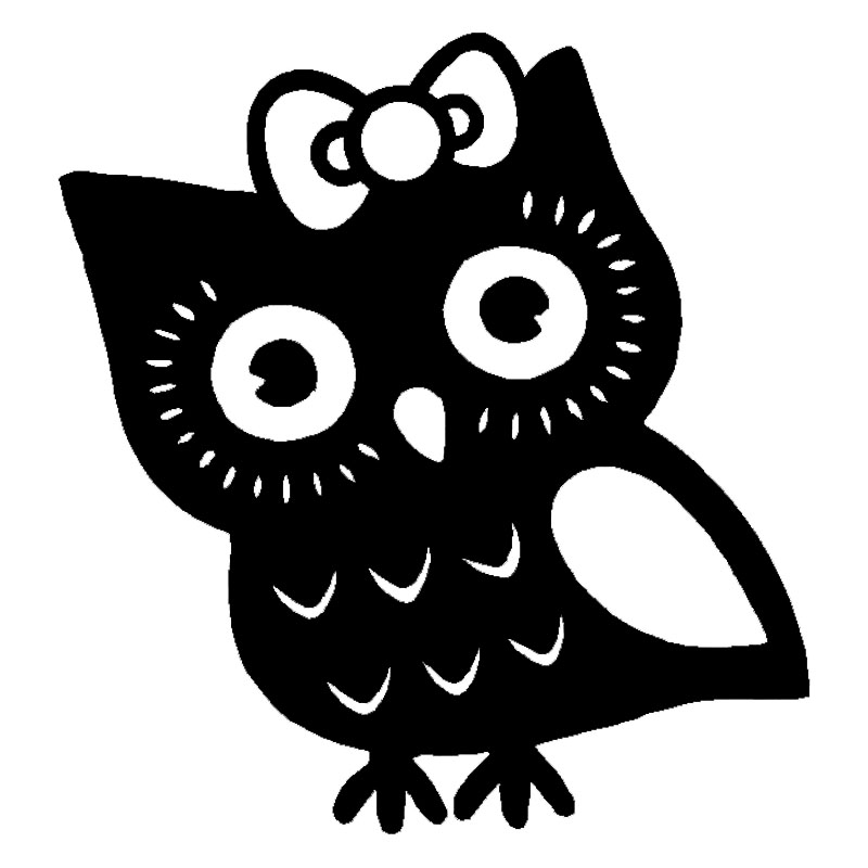 13 14cm Sweety Owl Girl Vinyl Car Stickers Lovely Car Body