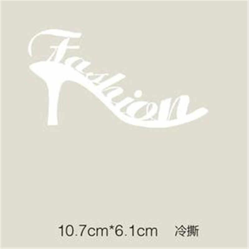 T-shirt vrouwen warmte-overdracht afdrukken mode hoge hakken schoen patch voor kleding ijzer op transfer patches voor kleding stickers