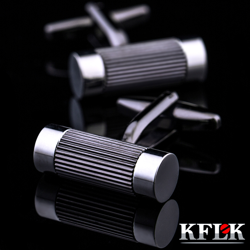 KFLK Jewelry French Shirt Cufflinks For Mens Brand Cuff Links Buttons Black Male High Quality Free Shipping 2017 New Arrival
