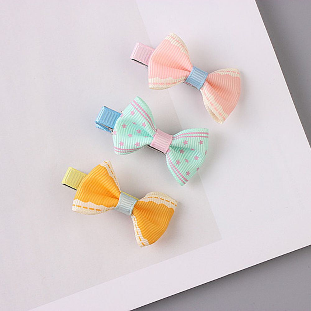 5pcs Color Random Dog Kitten Puppy Cute Pet Grooming Floral Solid Cotton Bow Flower Hairpins Butterfly Hair Clips Hair Barrette #5