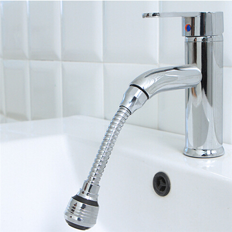 Stainless Steel 360 Rotary Water Saving Faucet Hose Aerator Diffuser Filter