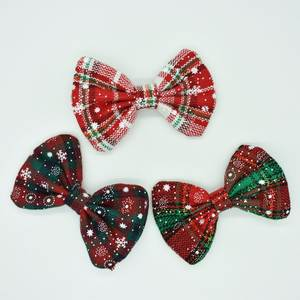 Children's Snowflake Bow Hair Clips Kids Color Hair Clips Christmas Gifts for Children