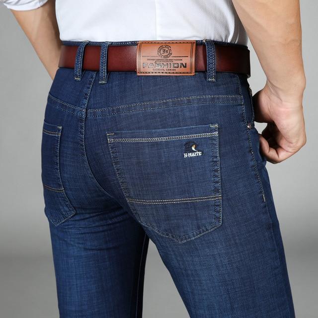 edec6c168 Jean Homme Biker Jeans Spijkerbroeken Heren Peto Vaquero Hombre Men Calca  Masculina Classic Slim Mens Trousers Male Man Pants