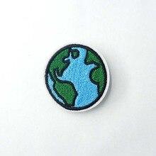 Земля(Размер: 4,0x4,2 см) значок Сделай Сам утюг на патч вышитая аппликация швейная одежда наклейки нашивки на одежду аксессуары для одежды