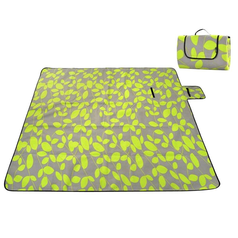 Фланелевые пижамы для детей 6 лет, коврик для кемпинга одеяло для улицы складной кемпинг первой помощи коврики для пикника твердый питомник коврики туристический коврик газон напольный коврик - Цвет: green leaves