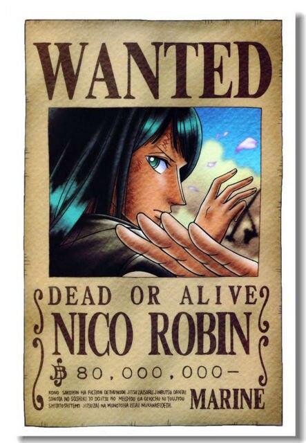 Custom Canvas Art One Piece Wall Stickers Nico Robin Wanted