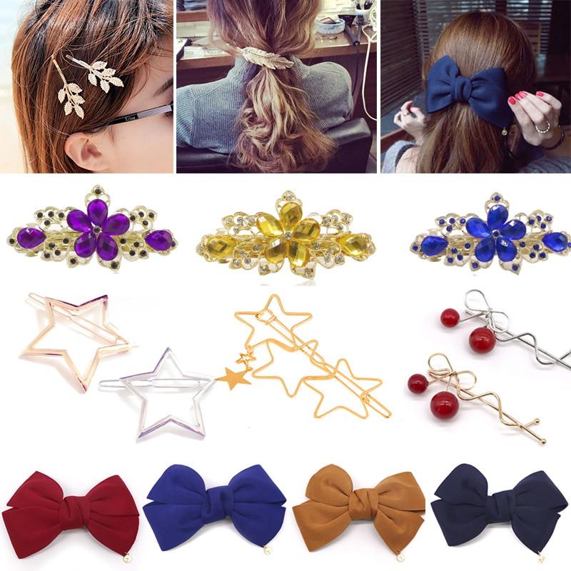 Մազահոսքեր Աղջիկների համար Իգական տերևների ձևի Աղջիկների տեսահոլովակներ Գլխաշոր Barrette Hairpin Hairgrips Մազերի զարդարանք Մազերի պարագաներ կանանց համար