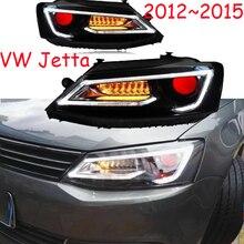 2 pçs tuning carros farol para jettamk6 faróis sagitar 2012 2013 2014 2015 led drl luzes running bi xenon feixe luzes de nevoeiro