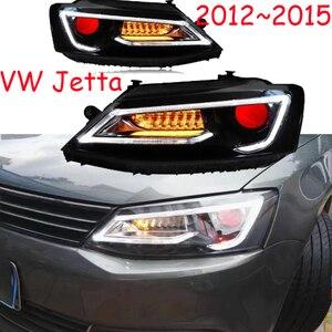 Image 1 - 2 stücke tuning autos Scheinwerfer Für JettaMK6 Scheinwerfer sagitar 2012 2013 2014 2015 LED DRL Lauf lichter Bi Xenon strahl Nebel lichter