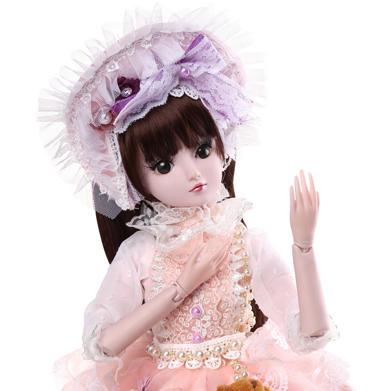 BARBIE 60CM BJD Dolls New Arrival SD Dolls With Outfit Elegant Dress Wigs Shose Hat Makeup Beautiful Dream Girls Toys KD Dolls bfdadi 2018 new arrival hat genuine