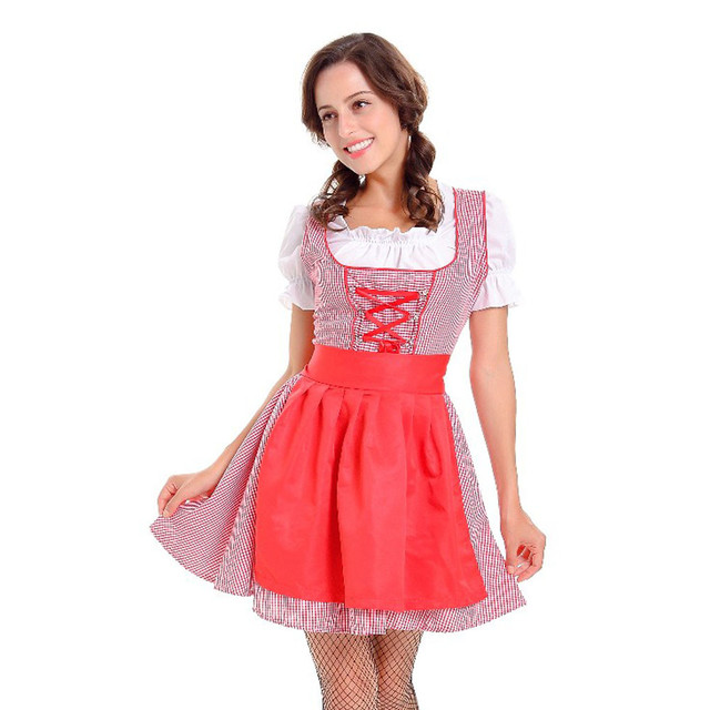 Hot Sale Sexy Women s Nite French Maid Cosplay Costume Dirndl German  Bavarian Dress Oktoberfest Beer Girl Moda Feminina-in Dresses from Women s  ... f16262f5ca