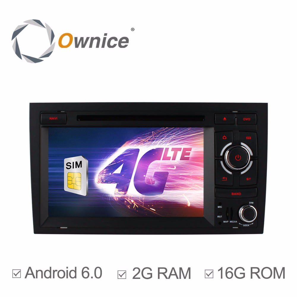 4g sim lte car dvd stereo radio player for audi a4 2002 2008 seat exeo