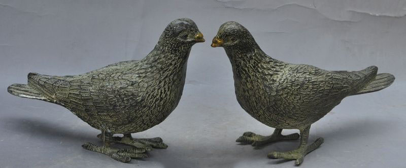 "Christmas 8""Chinese Bronze Symbolize Peaceful Peace Dove"