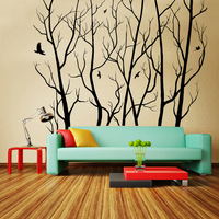 Free Shipping Diy Wallpaper Large Wall Art Decor Vinyl Tree Forest Decal Sticker Tree Wall Sticker