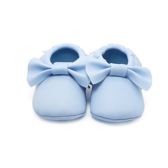 76d7b9971 Fringe Solid Blue Baby Shoes Cotton Fashion Soft Sole Babies Shoes Handmade  High Quality For 0-2 Years Old First Walkers 2017