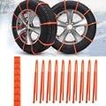 10 Pçs/set Mini Carro Universal rodas de Pneus De Inverno De Plástico Correntes De Neve Para Carros/Suv Carro-Styling Anti-Skid Autocross Ao Ar Livre