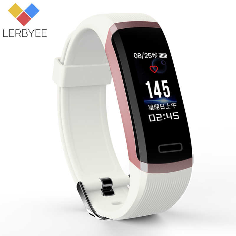 Lerbyee Smart Armband GT101 Farbe Heart Rate Monitor Fitness Tracker Bluetooth Smart Band Schwarz Männer für iPhone 7 Huawei