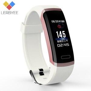 Image 1 - Lerbyee חכם צמיד GT101 צבע מסך קצב לב צג כושר Tracker Bluetooth חכם להקה שחור גברים pk FK88 W46 P8
