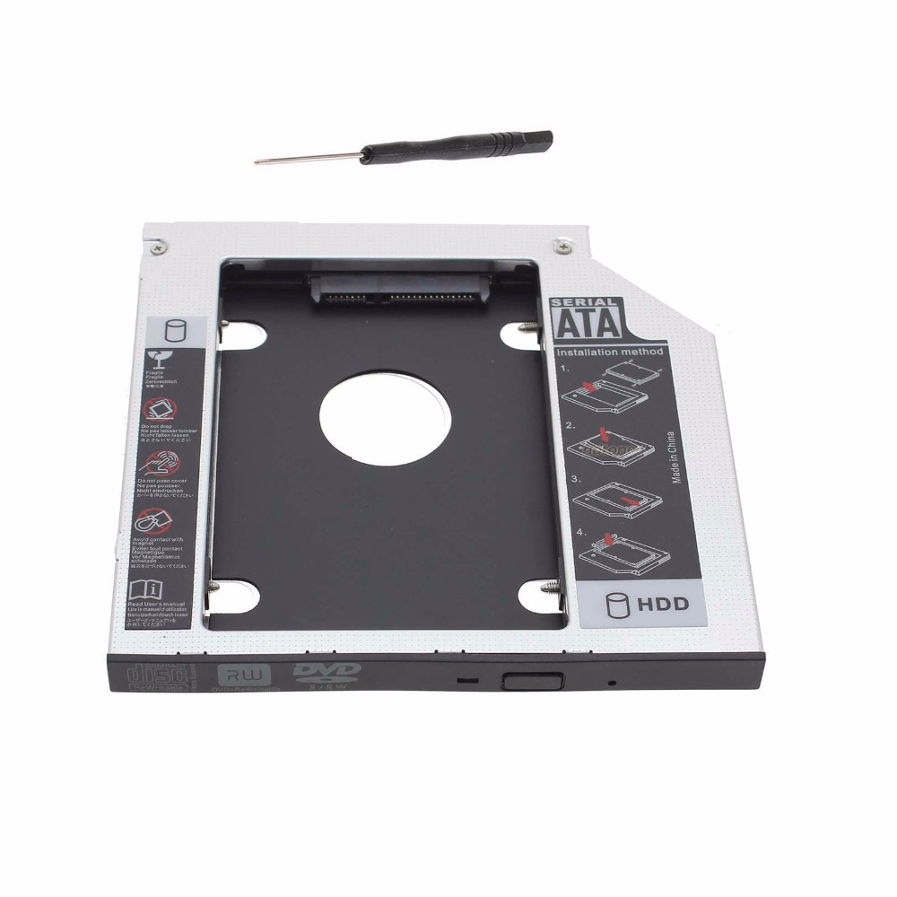 9.5mm Universal Sata to Sata 2nd HDD SSD HARD DISK DRIVE caddy adapter For Acer Aspire 4830