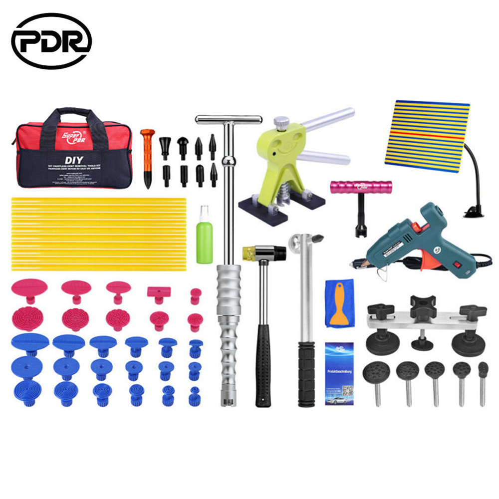 PDR Tools Paintless Dent Repair Tools Slide hammer Dent Removal Tools Reflector Board Dent Puller with Glue tabs PDR Tool Kit|Hand Tool Sets| |  - title=