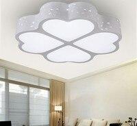 클로버 현대 단순 및 로맨스 led 천장 조명 plafond 램프 홈 거실 조명 천장 조명기구 침실