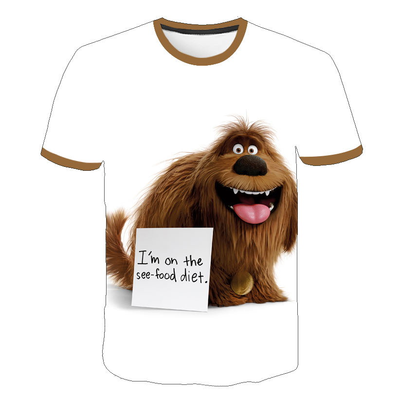 2019 Fashion The Secret Life Of Pets 2 3D Printed T Shirts Spring Tops Summer Tees Men Women Kid Short Sleeve Casual Personaity