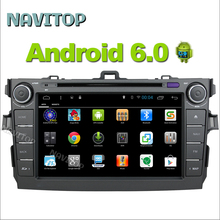 Navitop 2 din android 6.0 car dvd for toyota corolla  2007 2008 2009 2010 2011 multimedia car radio gps